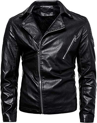 fghvcbnghf Men's Jacket Motorcycle Lapel Biker Bomber Punk Irregular Zipper Coat Overcoat Outwear,Black,6X-L