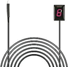 Idea Waterproof Motorcycle Gear Indicator LED Display Plug & Play for Honda (Red)