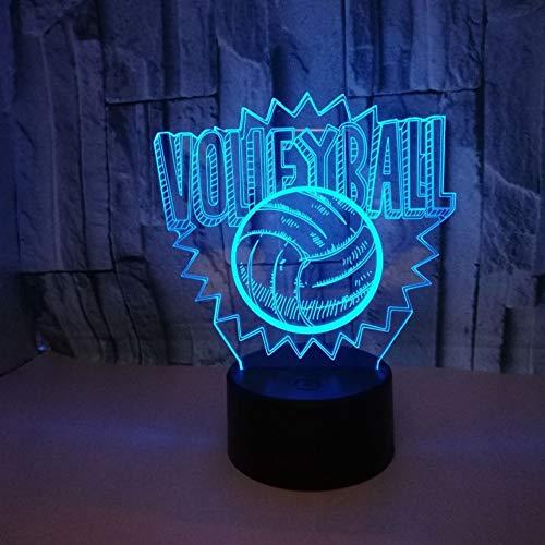 Volleyball 3D LED Lampe Touch Schalter 7 Farbwechsel Usb 3D Nachtlicht Baby Schlaf Beleuchtung Für...