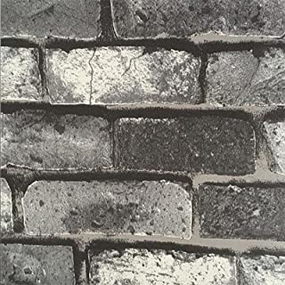 Murals PVC Brick Wall Bump-dimensional Dark Gray EnvironmentalPprotection Wallpaper Restoring Ancient Ways China's Wind Stone Texture TV Living Room Bedroom Decor -Dark Grey