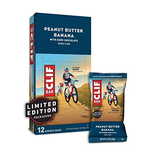 CLIF BAR - Energy Bars - Peanut Butter Banana with Dark Chocolate - (2.4 Ounce Protein Bars, 12 Count)