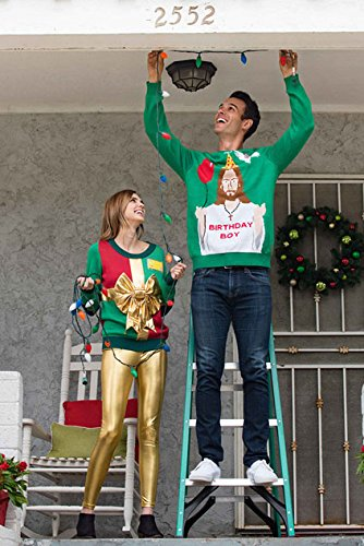 "Tipsy Elves Men's Ugly Christmas Sweater - Happy Birthday Jesus Sweater Green 6 ""****LAST CHANCE! Order Today and Save with our Lowest Priced Deals of the Holiday Season. While supplies last!****"" Tipsy Elves' ugly christmas sweaters are perfect for gifting to all of your friends but most importantly, yourself! Whether you're inside, outside, together or apart, or even stuck in a virtual meeting, whenever you rock your Tipsy Elves gear no one will ever doubt the ferocity of your festive fury. Tipsy Elves' hilariously ugly sweaters are a perfect gift this holiday season, why wait to share the love when you and your friends and family can make everyone laugh with one of our funny sweaters. Whether you're celebrating and matching in person or just catching up online, Tipsy Elves' hilarious holiday clothing will keep everyone looking cozy and warm!"