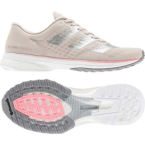 adidas Adizero Adios 5 w, Zapatillas de Running para Mujer, Grey One F17/SILVER Met./Light Flash Red