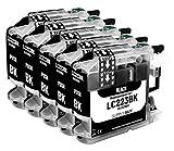 5 Cartuchos de Tinta Compatible con Brother LC223 LC-223XL Negro para MFC-J5320DW MFC-J5620DW MFC-J4420dw MFC-J480DW DCP-J4120DW DCP-J562DW y más (Ver página del Producto)