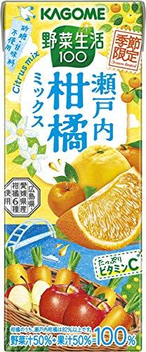 野菜生活100 瀬戸内柑橘ミックス 195ml×24本 紙パック