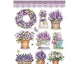 Carta di riso Farfalle E Lavanda, la Stamperia, A4, la carta di riso sul Decoupage, Hobby Vernici