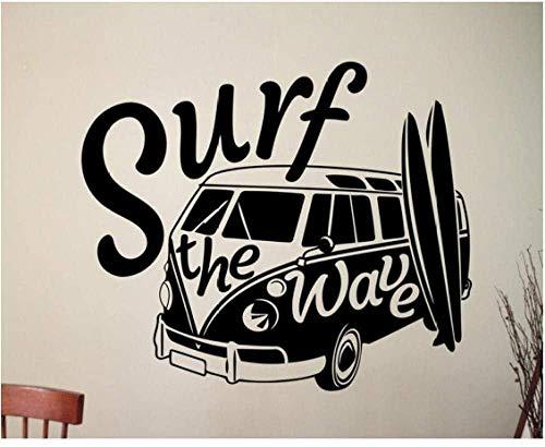 Pegatinas de pared,Decasl pegatina de surf decoración del hogar sala de estar...