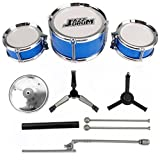 Juego de batería para niños de 3 Piezas, Juego de batería para niños, Instrumento Musical de percusión (Azul)