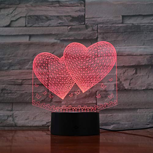 Veilleuse Optical Illusion Lampe Led Enfants Bulbing Bébé Ménage Éclairage Ambiance Cadeaux Pour Amis Et Famille
