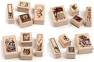 Original stamp cute Alice in Wonderland 16 piece set (japan import)