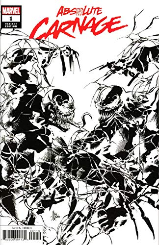 ABSOLUTE CARNAGE #1 PARTY SKETCH BLACK & WHITE COVER