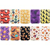 HaiMay 10 Pieces Halloween Beer Can Sleeves Beer Can Coolers Neoprene Drink Cooler Sleeves for Cans and Bottles, Festival Styles