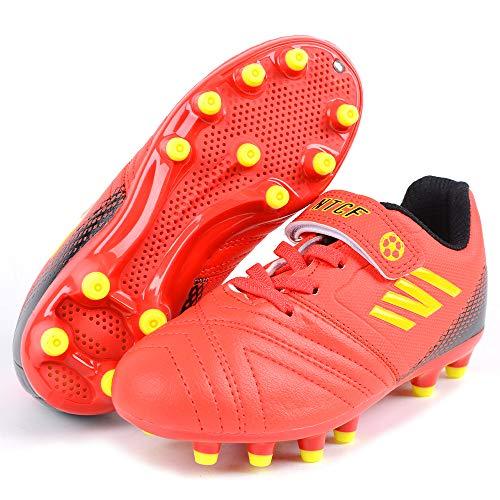 Scarpe Sportive Ragazzi 34 Scarpe da Calcio FG Football Shoes Ragazze Scarpe da Ginnastica Unisex Sneakers Scarpe da Allenamento Leggero Traspirante Running Shoes all'aperto Arancione