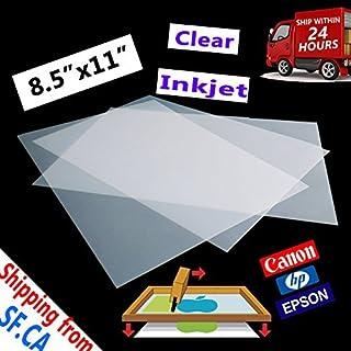 "8.5""x11"" Laser Printing Printer's Transparency Film Paper 50 Sheets Silk Screen Printing Laser Film Paper"