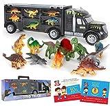 Dinosaur Truck Carrier – Dinosaur Toy for Boys, 12...