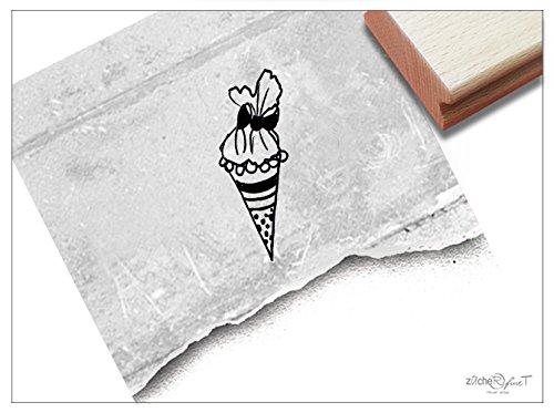 Stempel - K 67 - Kinderstempel Motivstempel - Kleine Schultüte für Schulanfänger - Bilderstempel zum Ausmalen für Kita - Kinderzimmer - Schule und Beruf