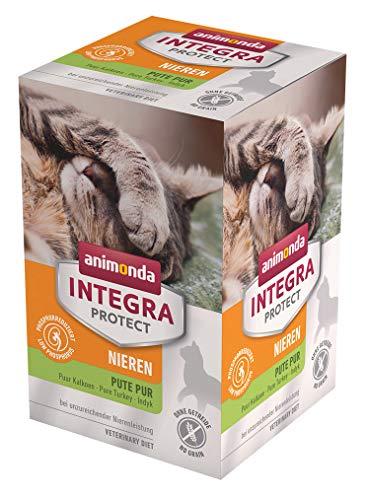 animonda Integra Protect Nieren Katzen, Nassfutter bei Niereninsuffizienz, Pute pur, 6 x 100 g