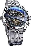 QHG Reloj para Hombres Deporte Military Military Mecánica Muñeca Muñeca Reloj de diseño de Turbillion Calendario