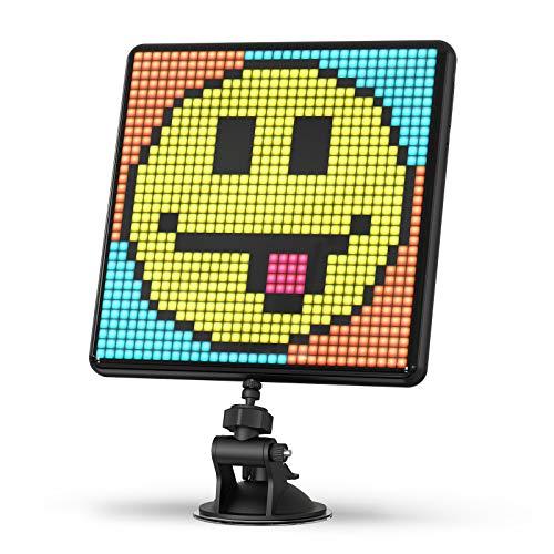 Divoom Pixoo-Max Mehrzweck Digitaler Bilderrahmen, 32 x 32 Programmierbares Pixel Art LED Display für Zimmer Gaming Deko, Fensterschild (Schwarz)