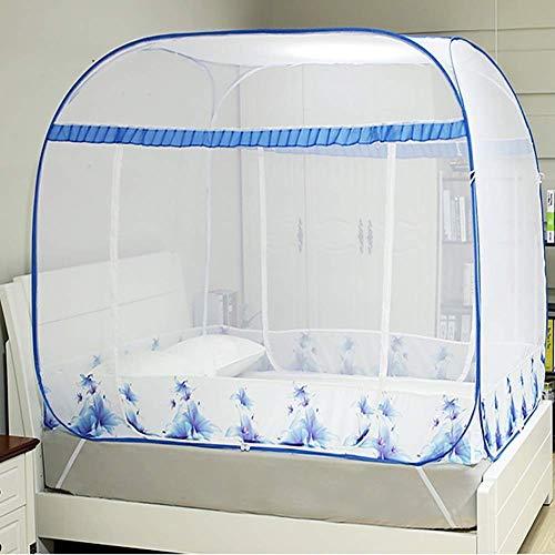 GANG Portátil Plegable Pop Up Mosquito, Encriptación Espesó Cuadrado Top Tent Malla, para Hogar Y Camping Al Aire Libre Fácil instalación / 135 * 195 * 150cm