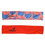 Headsweats USA Flag Reversible Head Band, Red/Blue, One Size