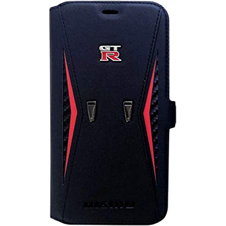 エアージェイ nismo 公式ライセンス品 iPhone11Pro (5.8インチ) 本革 手帳型ケース リアルレザー ニスモ GT-R メタルエンブレム 5.8インチ [アイフォン11プロ] NM-P19S-B4