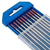 TEN-HIGH tig Electrodos de tungsteno Electrodos de soldadura, Torio 2% Rojo, Para soldadur...