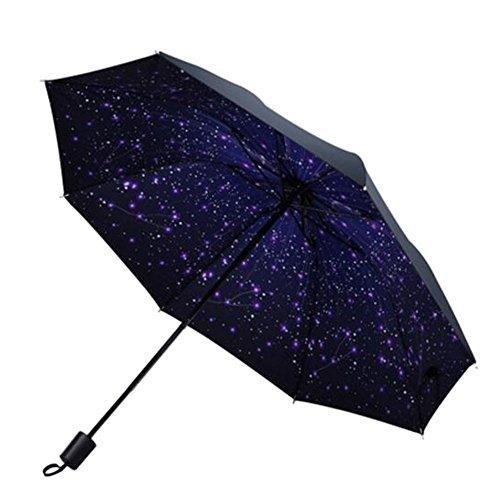 Haodasi Ultra-Licht Pliant Tragbar Kompakt Beschichtung Regenschirm Draussen Reise Winddicht Wasserdicht Anti-UV For Herren Damen Jungen Filles