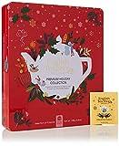 English Tea Shop Coffret Métallique Rouge Éco-Conçu Collection Holiday de Thés/Infusions 9 Mélanges Bio 72 Unités 110 g