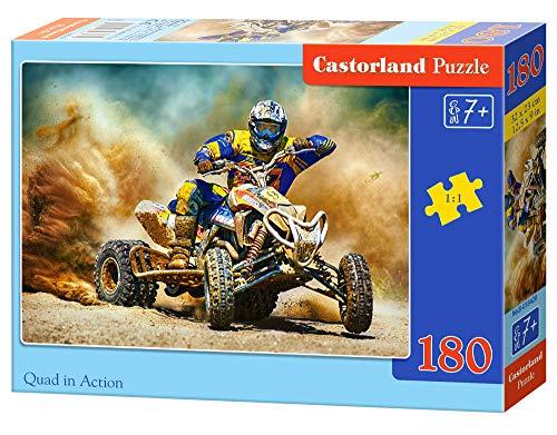 Castorland B-018420 Quad in Action, 180 Teile Puzzle, bunt