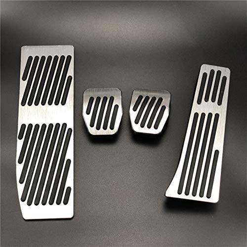 piaopiao Accessori Auto Adatta per BMW 3 5 Series E30 E32 E34 E36 E38 E39 E34 E36 E38 E39 E46 E87 E90 E91 E91 X5 X3 Z3 Accelerator Pedali a Riposo Piede Freno (Color Name : No Drill for MT 4pcs)