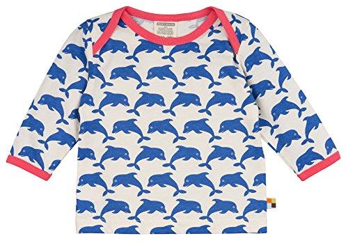 loud + proud Kinder-Unisex Shirt, Druck Langarmshirts, Blau (Pacific) Pa, 68 (62/68)