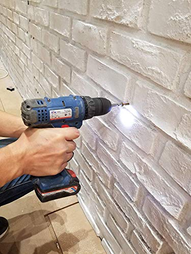 Faux Brick Wall Panels, 3D FRP Wall Panel Resin Fiberglass Material for House Extrior and Interior Wall Use (Matt White, New London)