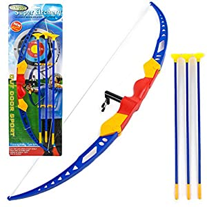 Toysery Kids Archery Bow and Arrow Toy Set with Target Outdoor Garden