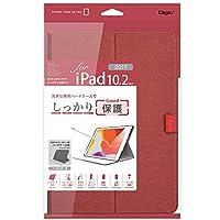 iPad 10.2inch 2019 用 ハードケースカバー レッド TBC-IP1907R