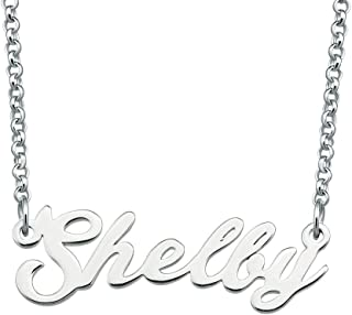 SexyMandala Name Necklace Personalized Custom Made Sterling Silver Pendant Women Choker Jewelry Same Day Shipping Valentine's Gift for Her