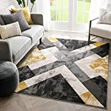Well Woven Rheta Gold Modern Geometric Stripes & Angles Pattern Area Rug 5x7 (5'3' x 7'3')
