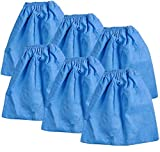 KEEPOW VRC5 Cloth Filter Bags for Vacmaster 4 to 16 Gallon Wet/Dry Vacuums VBV1210 VJC507P, 6 Pack