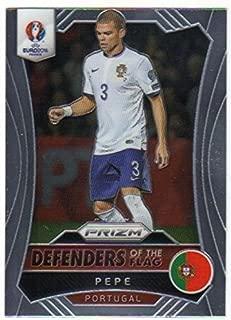 2016 Panini UEFA Euro Prizm Defenders of the Flag #9 Pepe Portugal Soccer '16 Futbol Insert Card