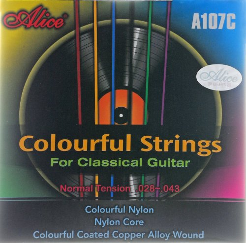 Alice Nylonsaiten, Saiten für Konzertgitarren (Farbig)