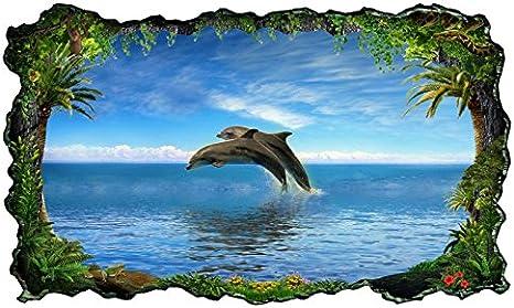 Aufkleber Küchenrückwand Delfine Meer Delfin blau Folie Deko Spritzschutz 22A023