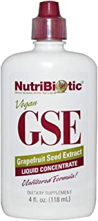GSE Grapefruit Seed Extract Liquid Concentrate 10 Drops 400 Serving 4 fl oz 118 ml