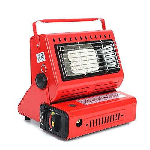BST&BAO Estufa de Gas con Calentador portátil, Estufa de Gas líquido con Calentador de Gas Compacto de Doble Uso No Requiere Fuente de alimentación Ángulo Ajustable con Mango Ligeramente