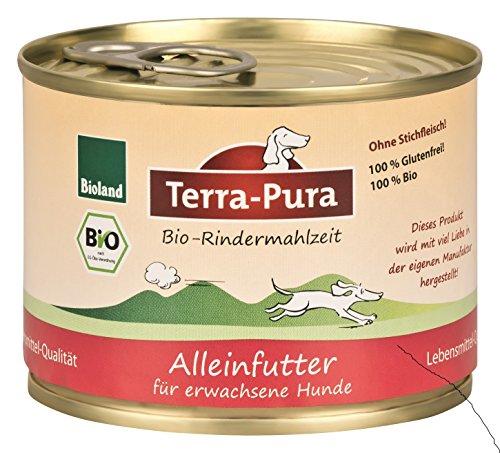 Bio Rindermahlzeit für Hunde, 200 g x 24