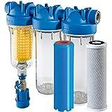 "HYDRA Ironmaster 3/4"" Set Eisenfilter Brunnenwasserfilter Hauswasserfilter Chlor"
