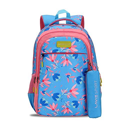 Lavie Sport Tulip 40 Ltrs Stylish Backpack   School College bag for girls (Blue)
