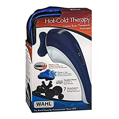 Wahl Hot-Cold Therapy Custom Body Therapeutic Massager 4126 With 7 Attachments Ergonomic Design