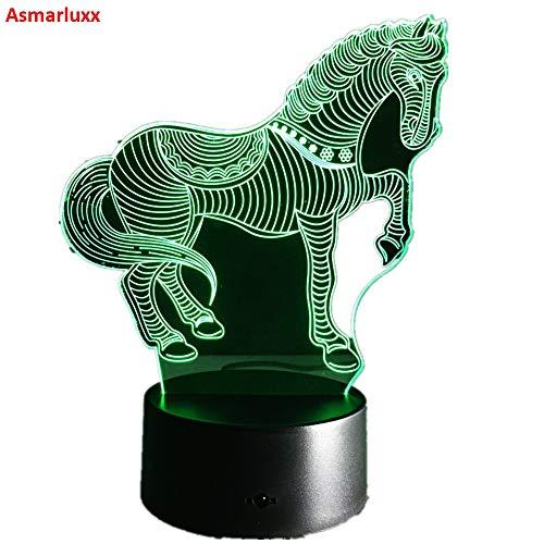 Horse Night Light Novedad Regalo Tipo Color Animal lámpara de Mesa como decoración del hogar Pentium Horse Gift