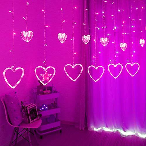 Luces De La Barra De Hielo LED Luces Decorativas De Cuerda Amor Cortina Decorativa Alquiler De Luces Luces Al Aire Libre A Prueba De Agua Pink