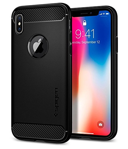 Spigen Rugged Armor iPhone X Case with Resilient Shock Absorption and Carbon...